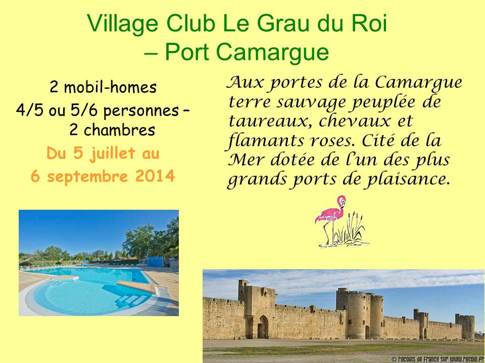 Village Club Le Grau du Roi – Port Camargue