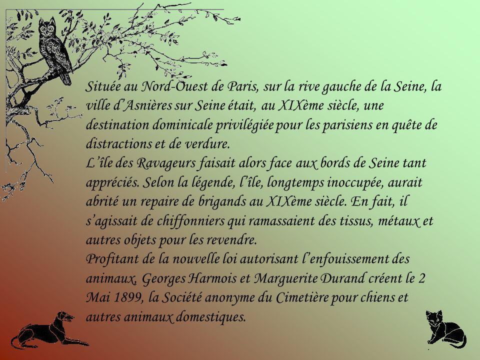 Située au Nord-Ouest de Paris, sur la rive gauche de la Seine, la ville d'Asnières sur Seine était, au XIXème siècle, une destination dominicale privilégiée pour les parisiens en quête de distractions et de verdure.
