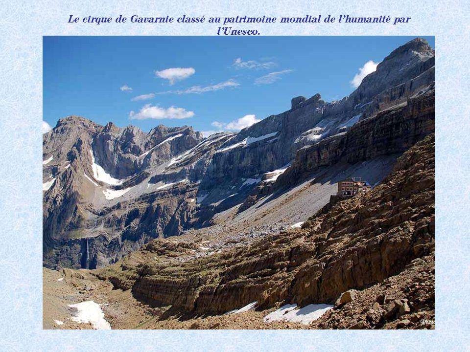 Le cirque de Gavarnie classé au patrimoine mondial de l'humanité par l'Unesco.