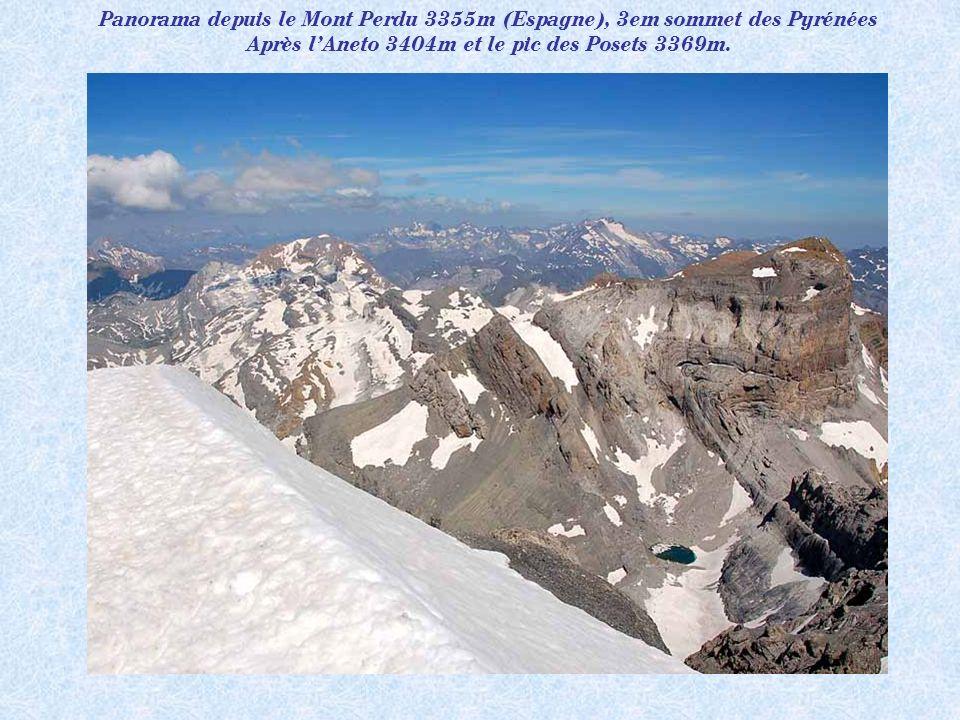Panorama depuis le Mont Perdu 3355m (Espagne), 3em sommet des Pyrénées