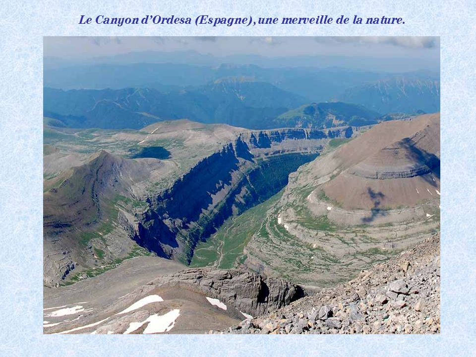 Le Canyon d'Ordesa (Espagne), une merveille de la nature.
