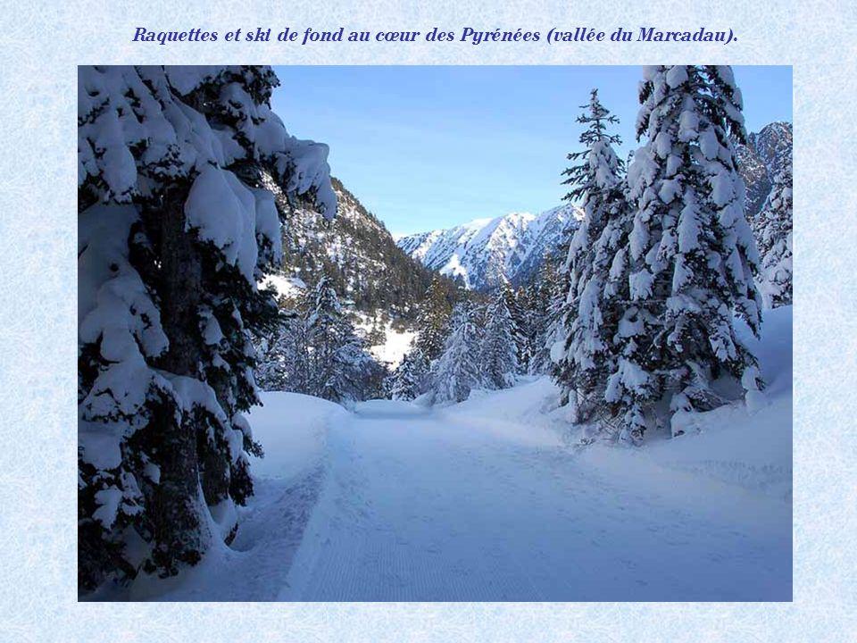 Raquettes et ski de fond au cœur des Pyrénées (vallée du Marcadau).