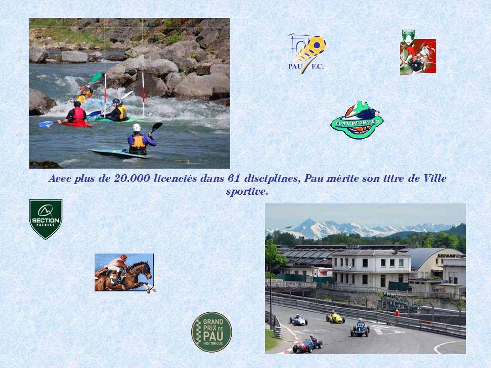 Avec plus de 20.000 licenciés dans 61 disciplines, Pau mérite son titre de Ville sportive.