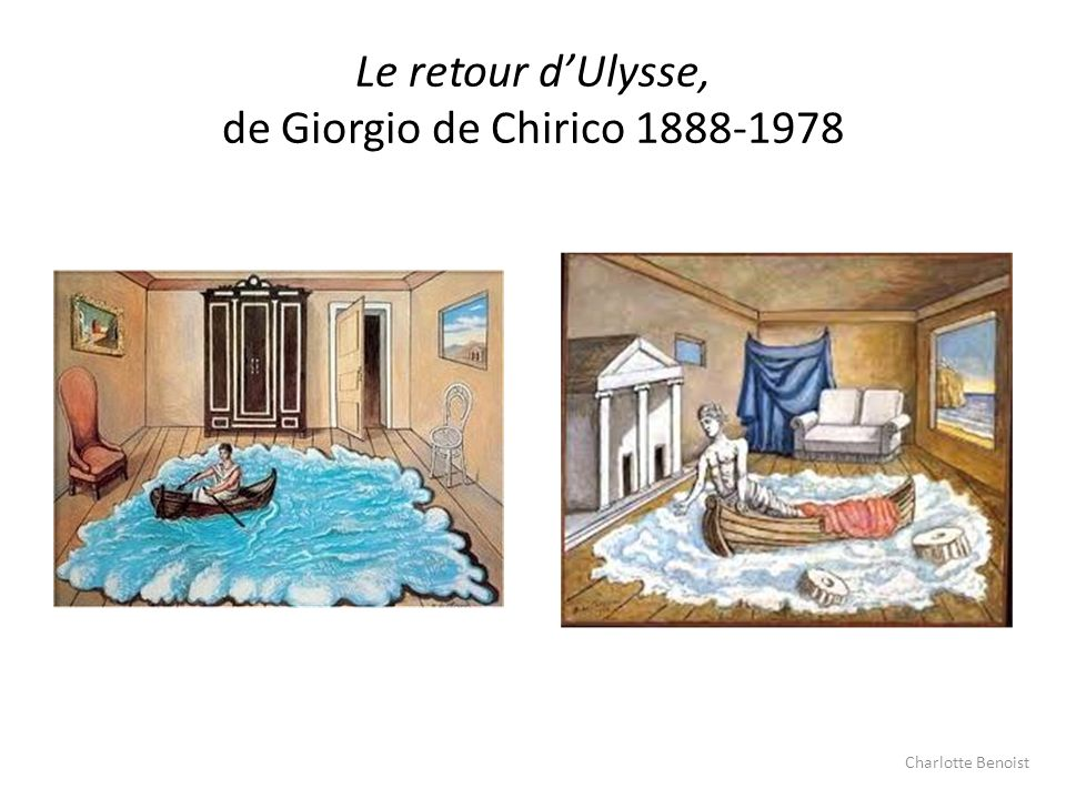 Le retour d'Ulysse, de Giorgio de Chirico 1888-1978