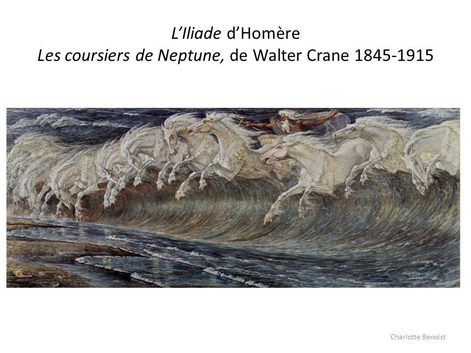 L'Iliade d'Homère Les coursiers de Neptune, de Walter Crane 1845-1915