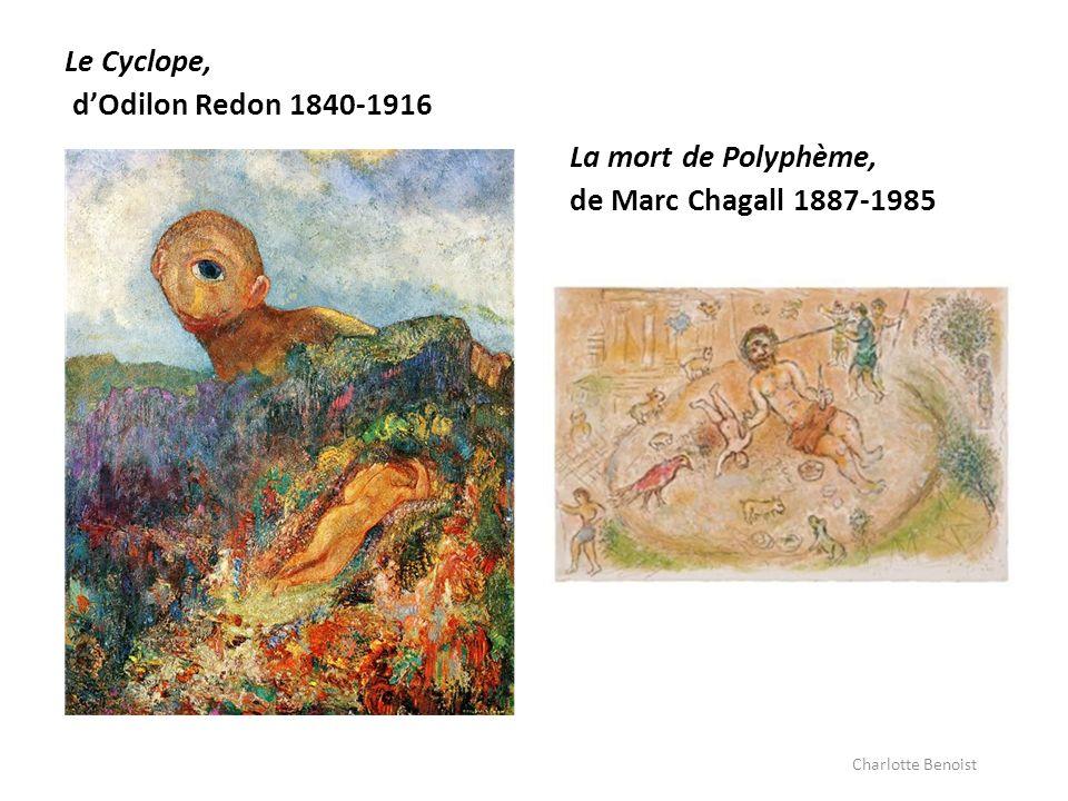 Le Cyclope, d'Odilon Redon 1840-1916 La mort de Polyphème,