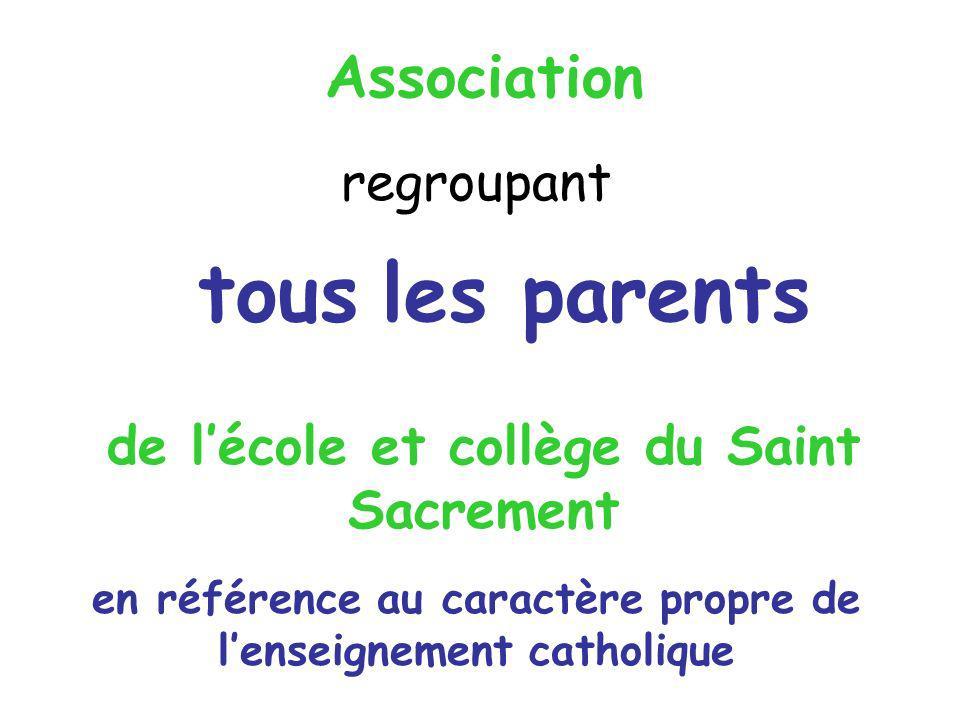de l'école et collège du Saint Sacrement