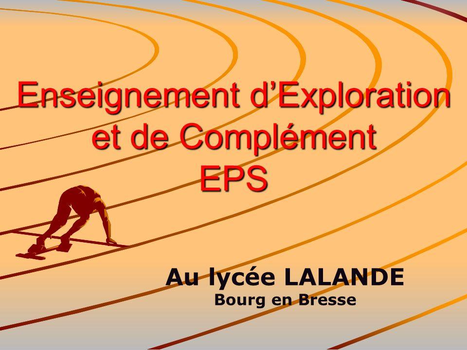 Enseignement d'Exploration et de Complément EPS