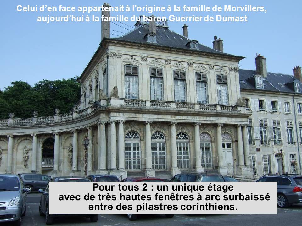Celui d'en face appartenait à l origine à la famille de Morvillers, aujourd'hui à la famille du baron Guerrier de Dumast