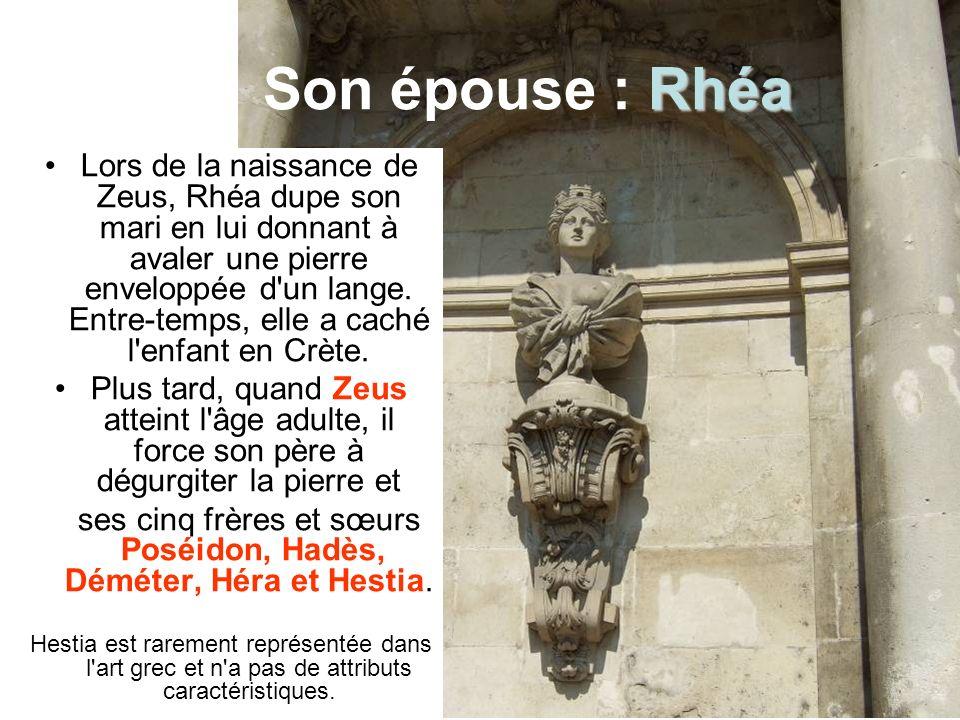 ses cinq frères et sœurs Poséidon, Hadès, Déméter, Héra et Hestia.