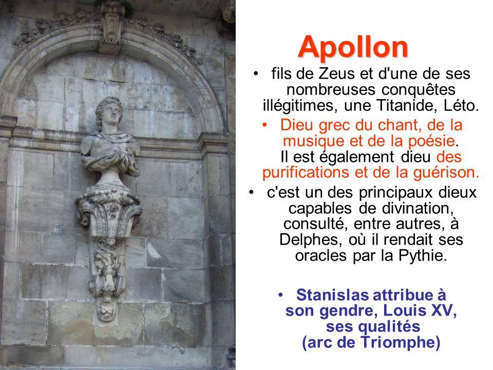 Apollon fils de Zeus et d une de ses nombreuses conquêtes illégitimes, une Titanide, Léto.