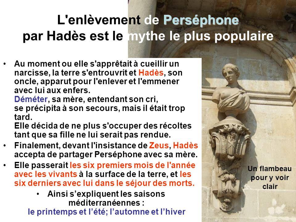 L enlèvement de Perséphone par Hadès est le mythe le plus populaire