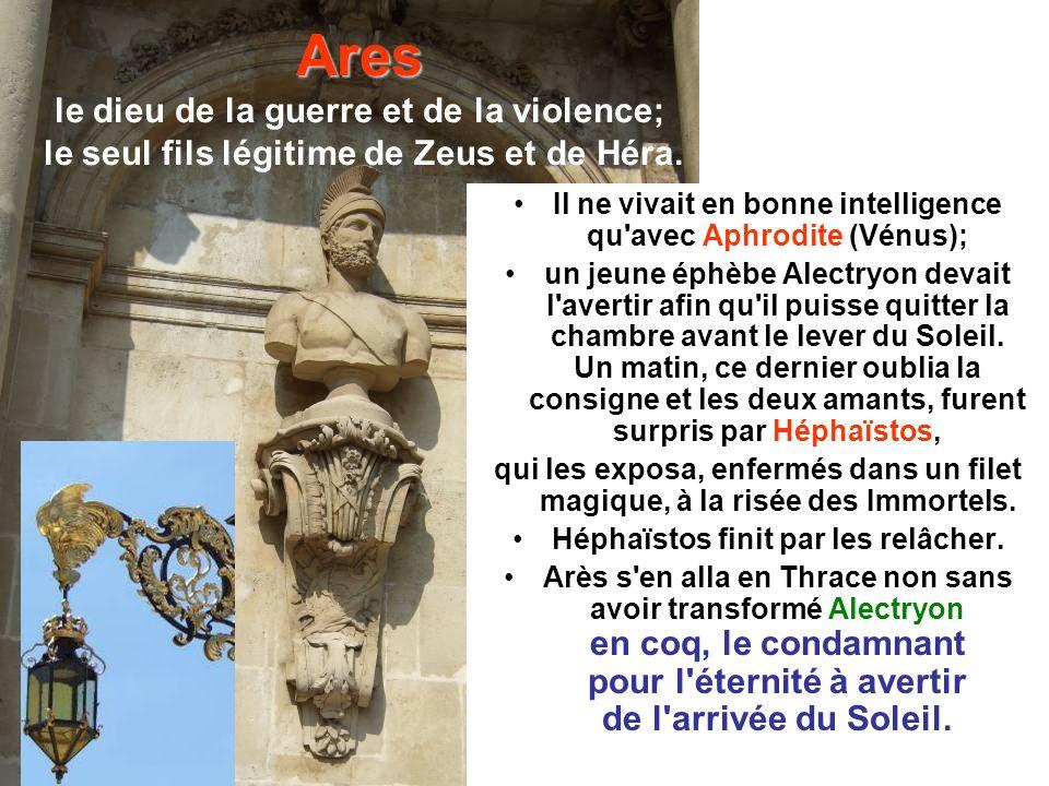 Ares le dieu de la guerre et de la violence; le seul fils légitime de Zeus et de Héra.