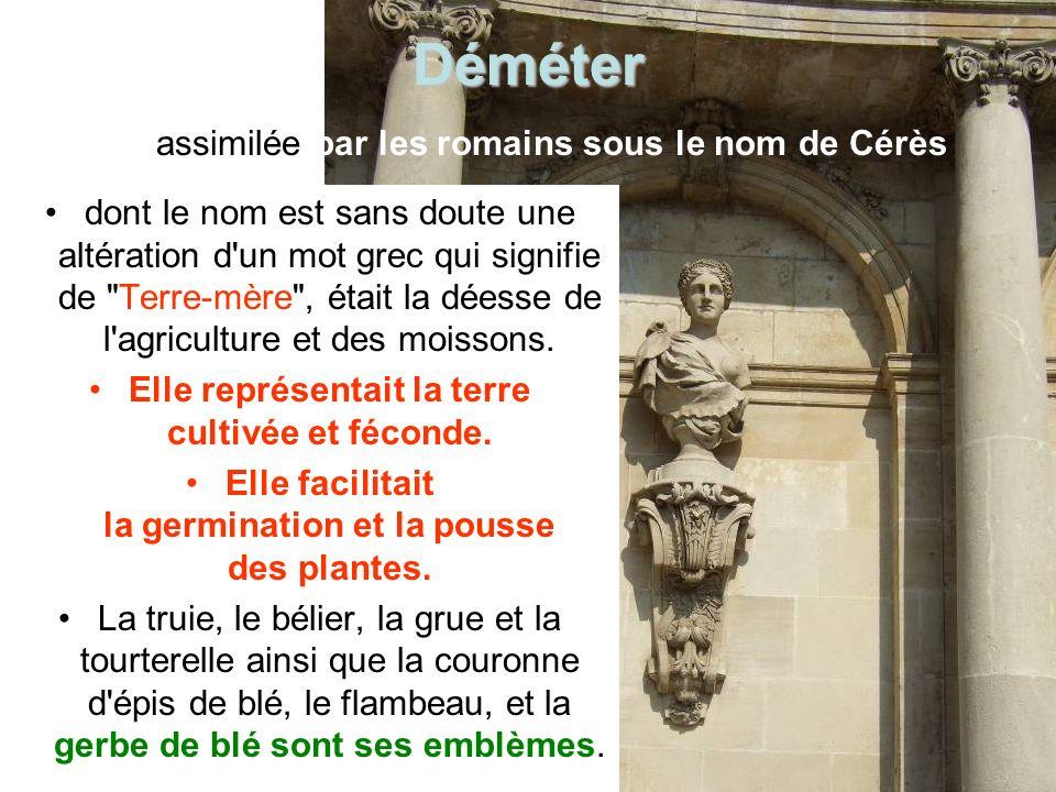 Déméter assimilée par les romains sous le nom de Cérès