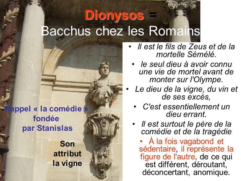 Dionysos = Bacchus chez les Romains