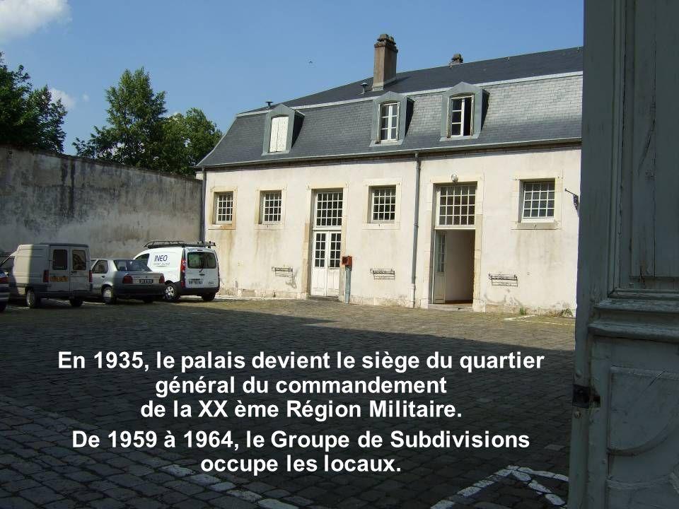 De 1959 à 1964, le Groupe de Subdivisions occupe les locaux.
