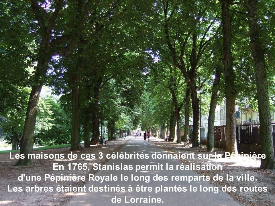 Les maisons de ces 3 célébrités donnaient sur la Pépinière