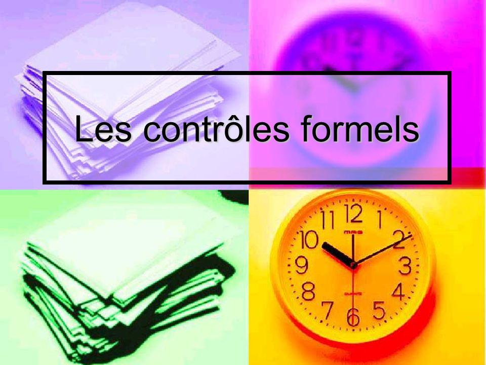 Les contrôles formels