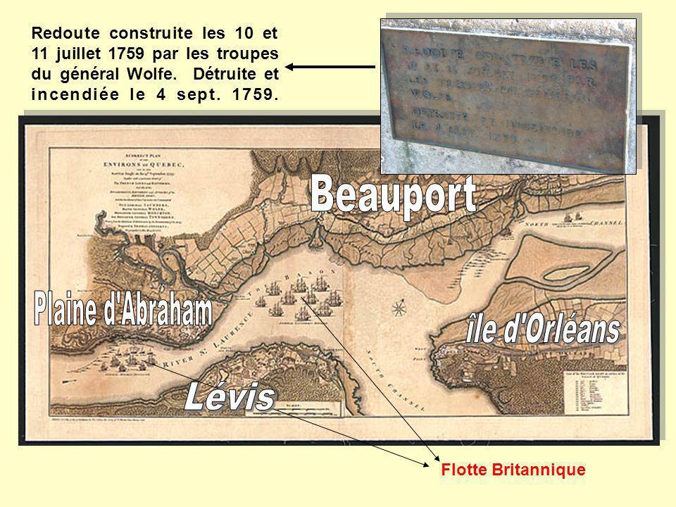 Beauport Plaine d Abraham Lévis île d Orléans