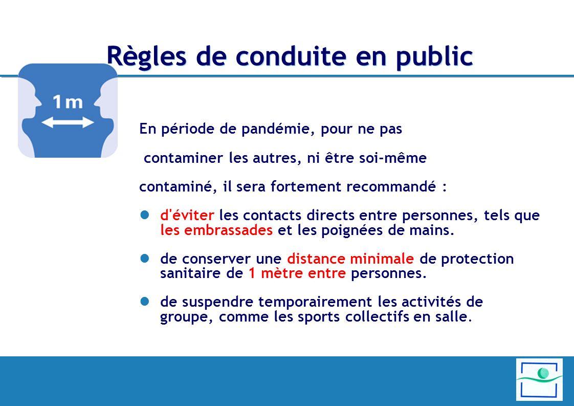Règles de conduite en public