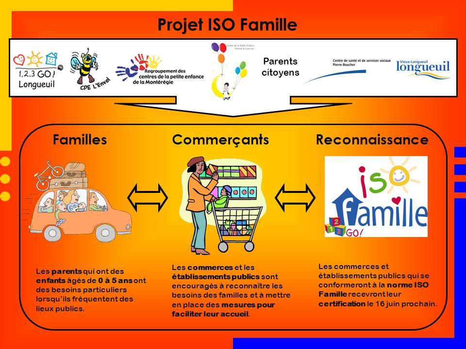 Projet ISO Famille Familles Commerçants Reconnaissance