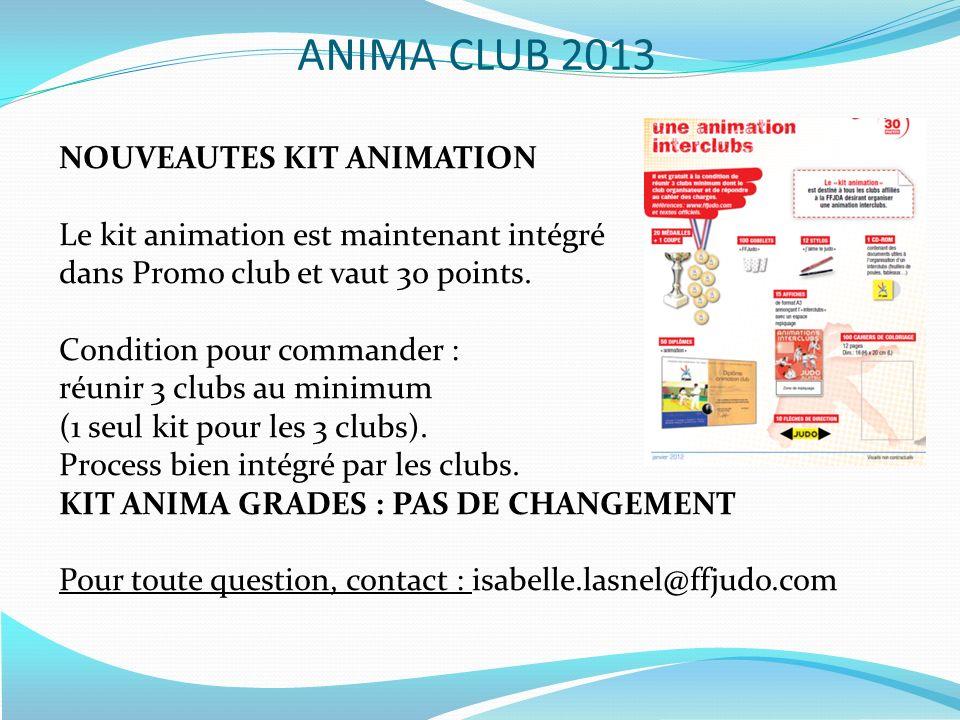 ANIMA CLUB 2013 NOUVEAUTES KIT ANIMATION