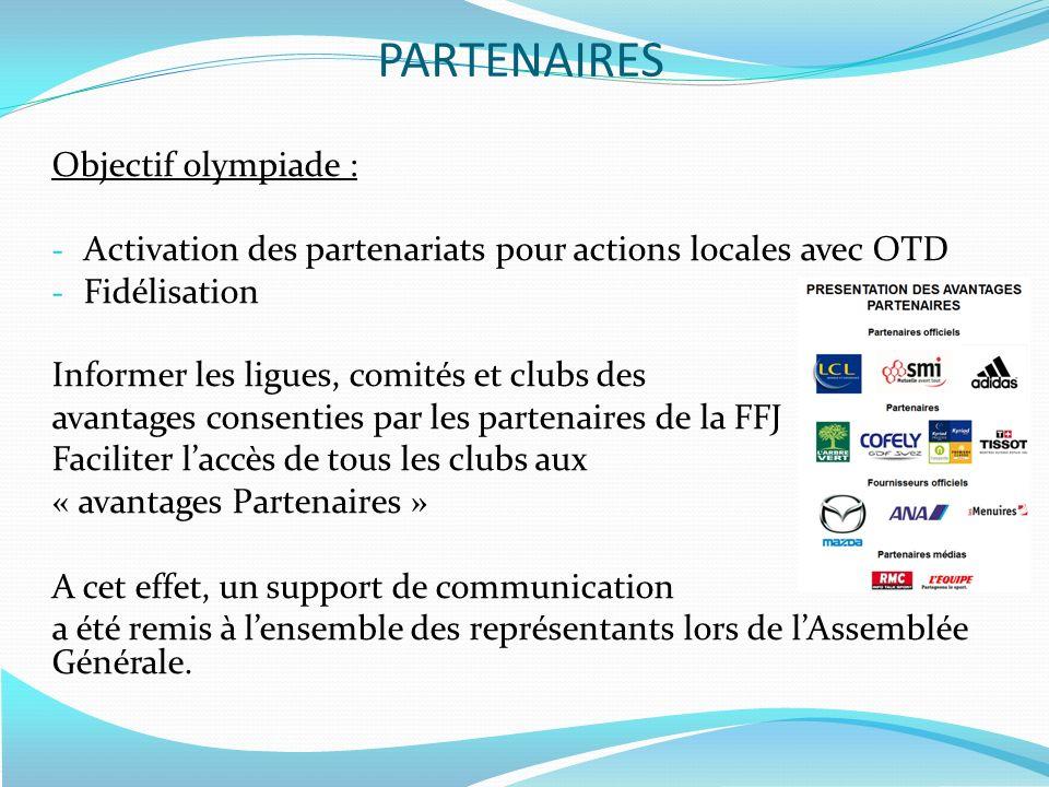 PARTENAIRES Objectif olympiade :