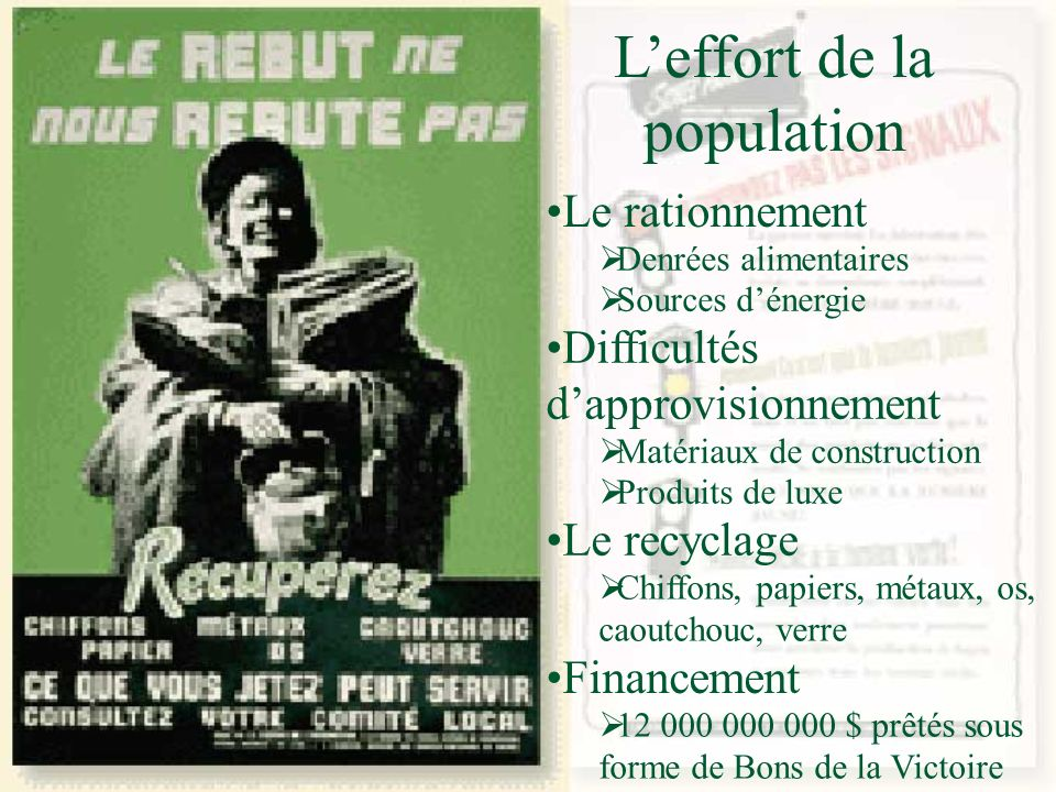 L'effort de la population