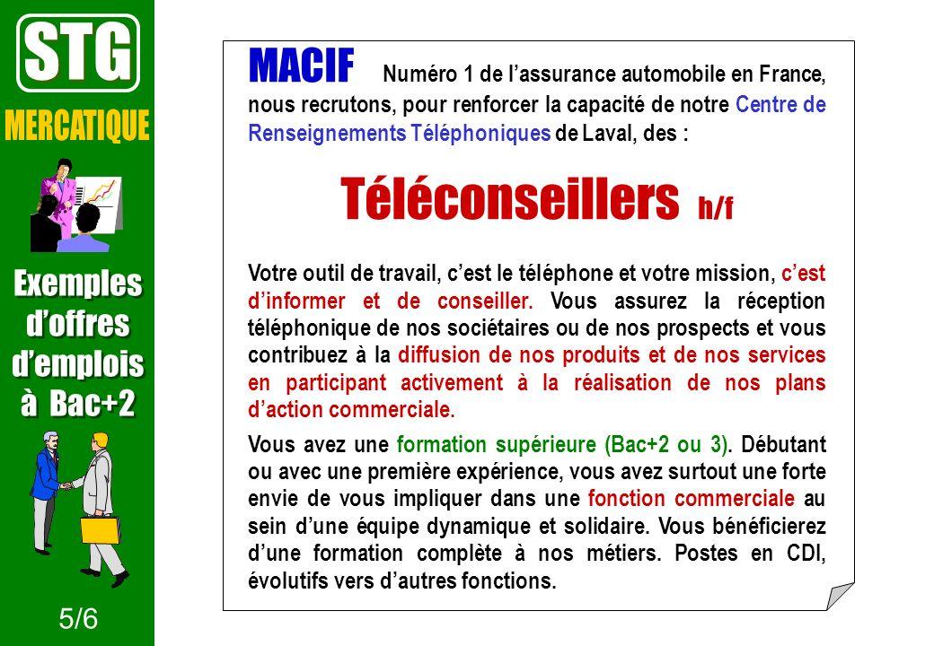STG Téléconseillers h/f