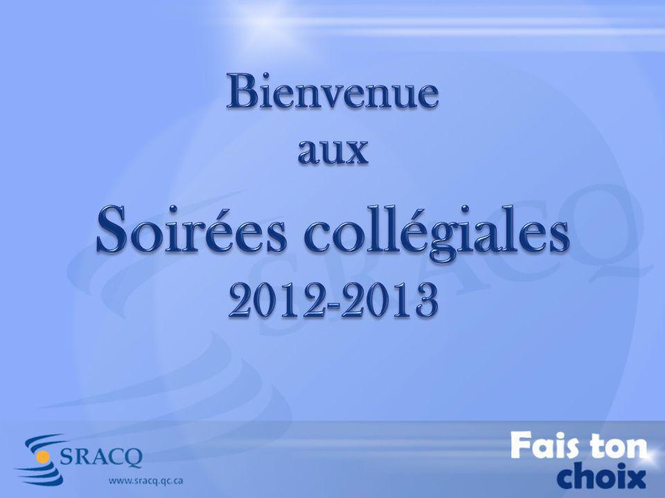 Bienvenue aux Soirées collégiales 2012-2013