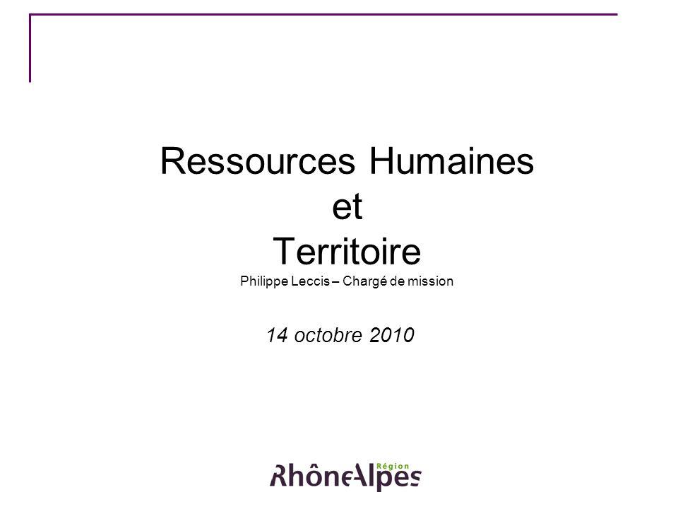 Ressources Humaines et Territoire Philippe Leccis – Chargé de mission