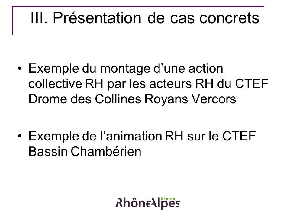 III. Présentation de cas concrets