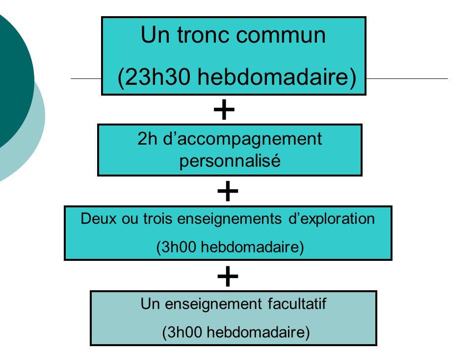 + + + Un tronc commun (23h30 hebdomadaire)