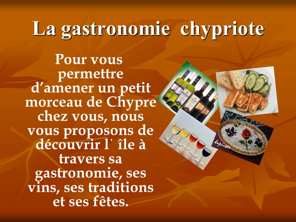 La gastronomie chypriote