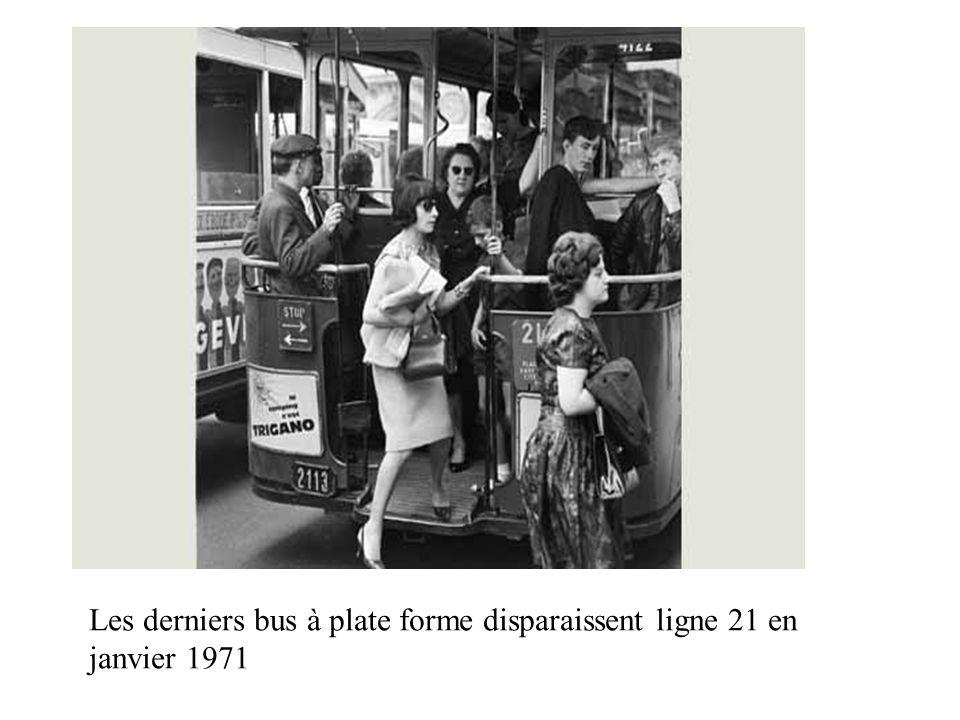 Les derniers bus à plate forme disparaissent ligne 21 en janvier 1971