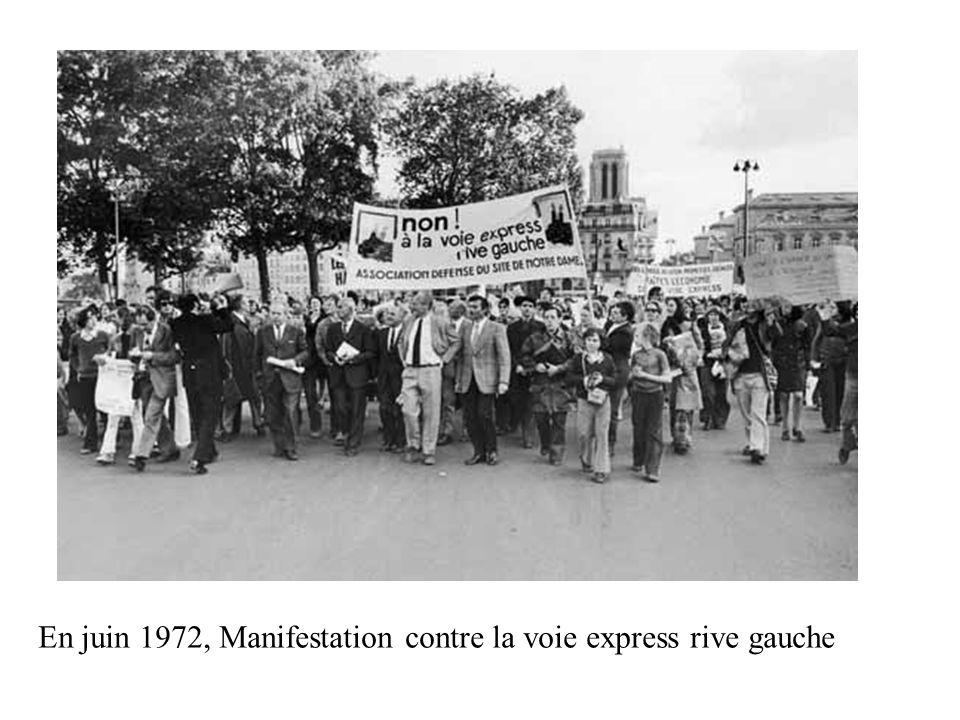 En juin 1972, Manifestation contre la voie express rive gauche