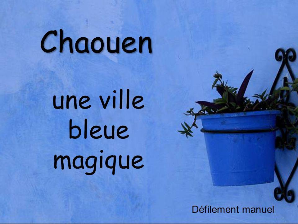 une ville bleue magique