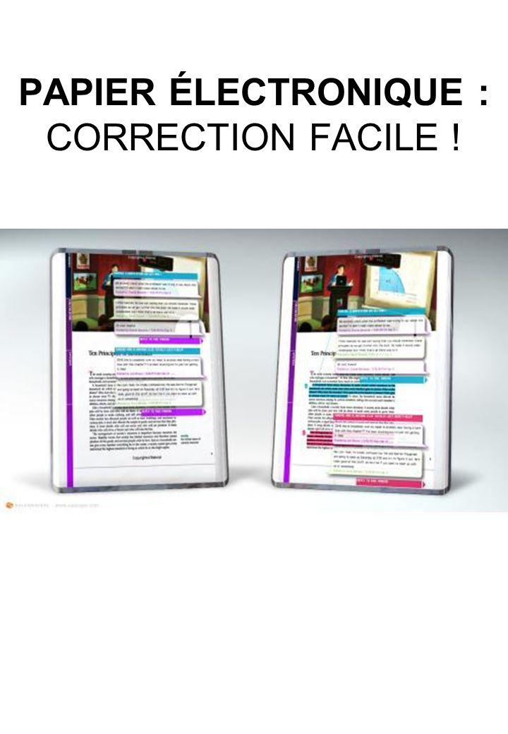 PAPIER ÉLECTRONIQUE : CORRECTION FACILE !