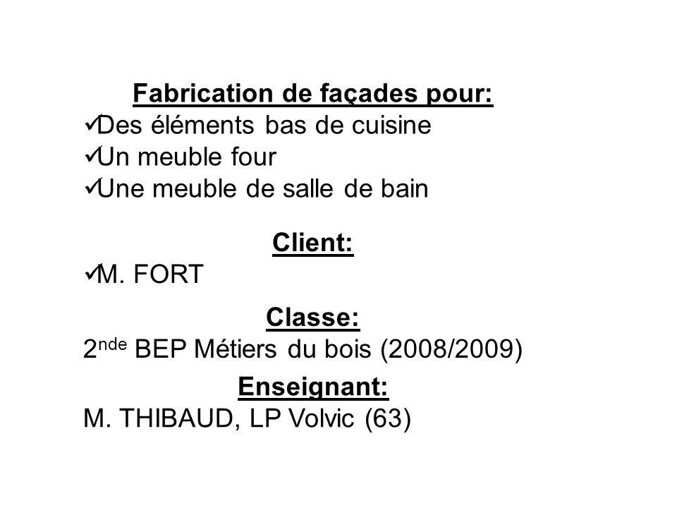 Fabrication de façades pour: