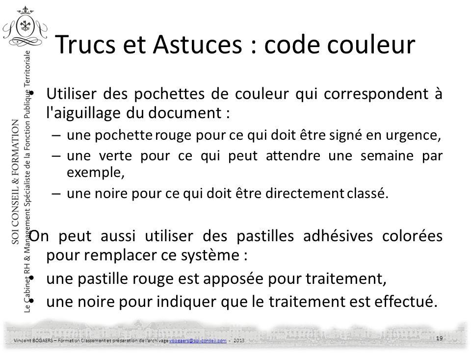 Trucs et Astuces : code couleur
