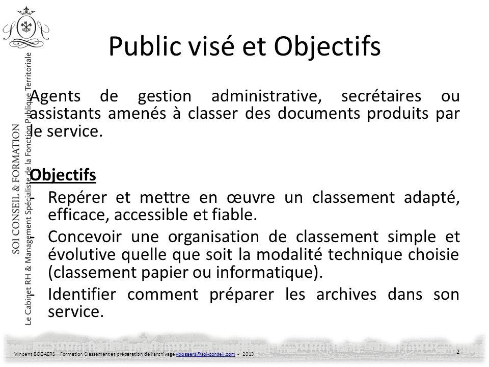 Public visé et Objectifs