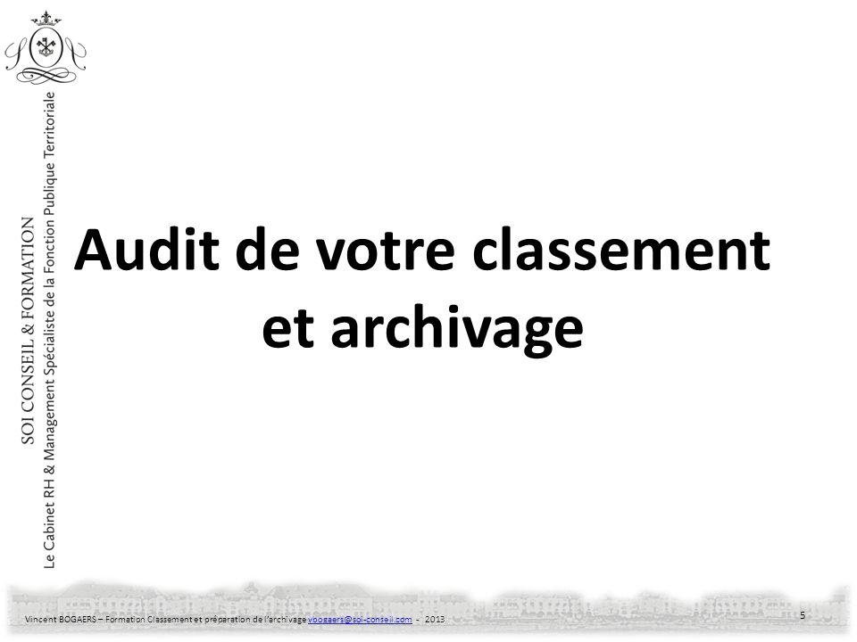 Audit de votre classement et archivage
