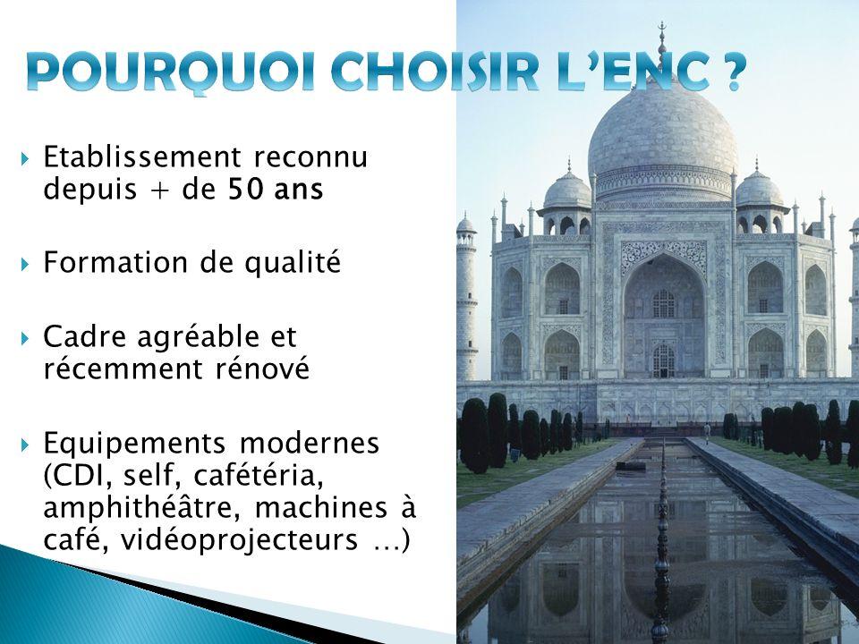 POURQUOI CHOISIR L'ENC