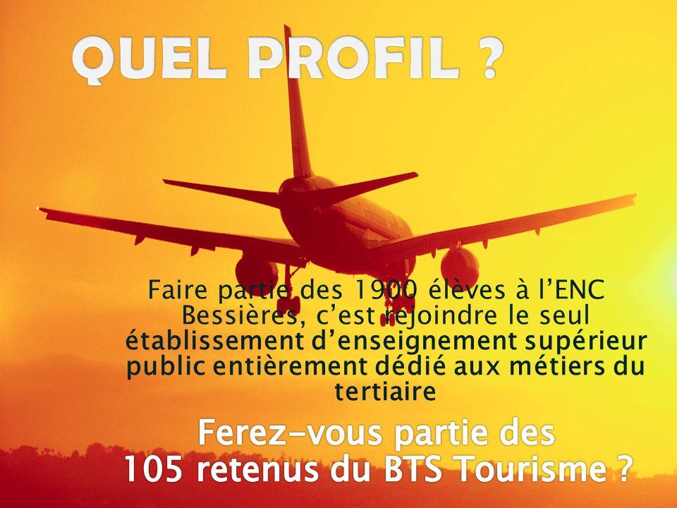 105 retenus du BTS Tourisme