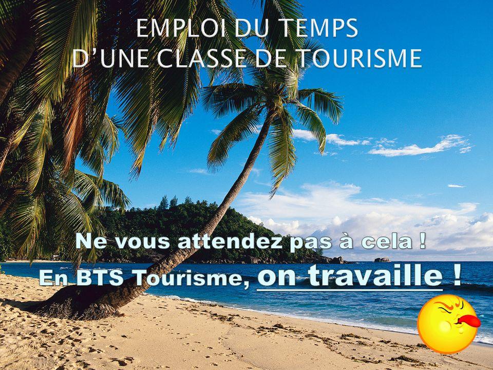 EMPLOI DU TEMPS D'UNE CLASSE DE TOURISME