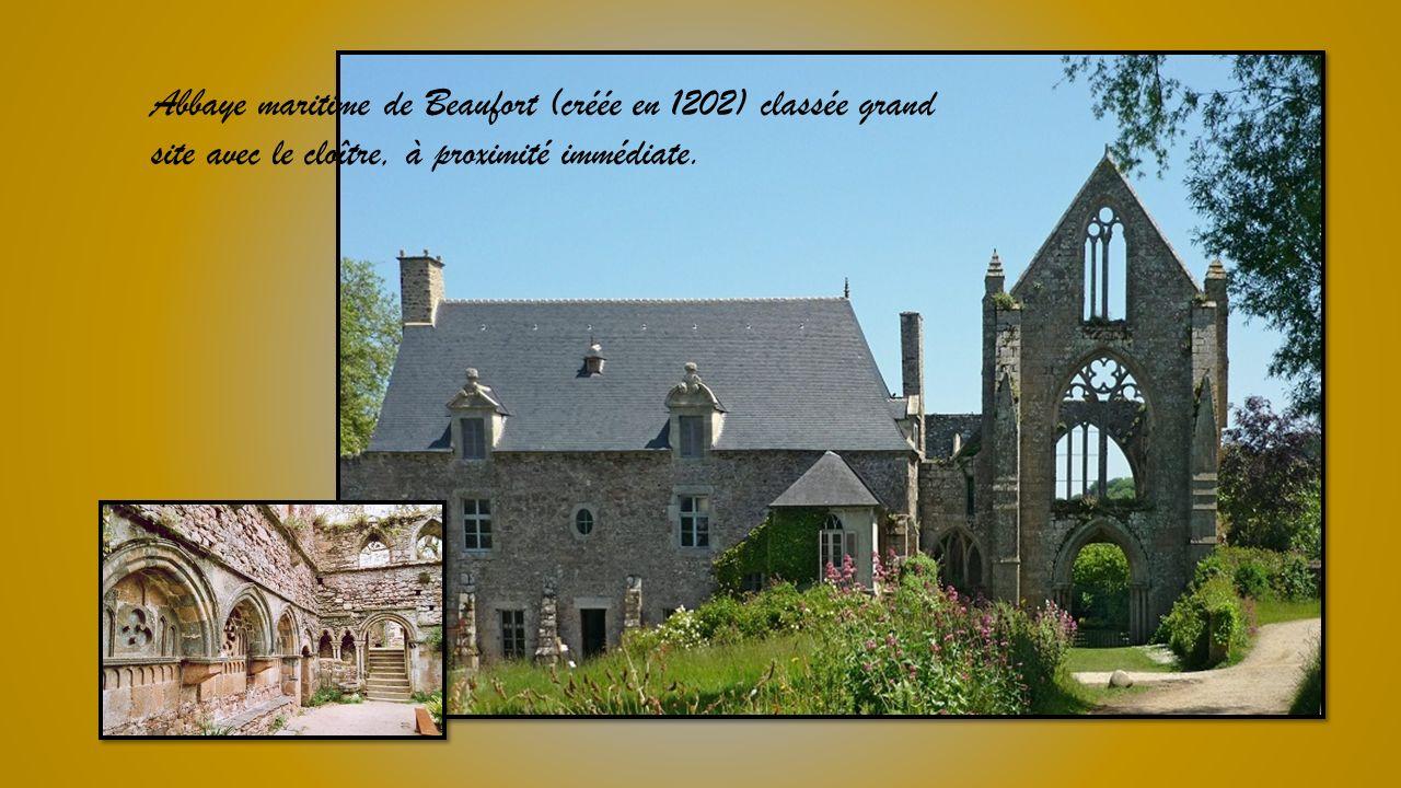 Abbaye maritime de Beaufort (créée en 1202) classée grand