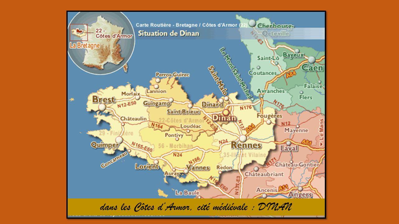 dans les Côtes d'Armor, cité médiévale : DINAN