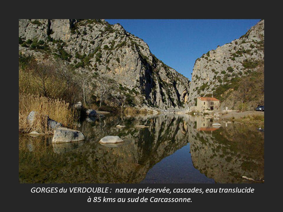 GORGES du VERDOUBLE : nature préservée, cascades, eau translucide