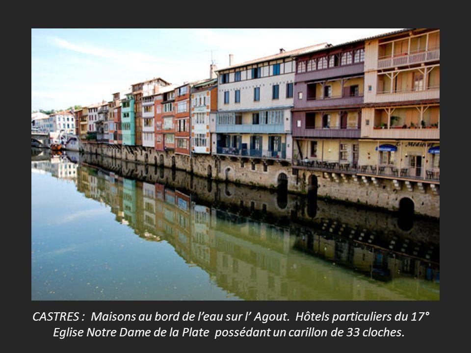 CASTRES : Maisons au bord de l'eau sur l' Agout