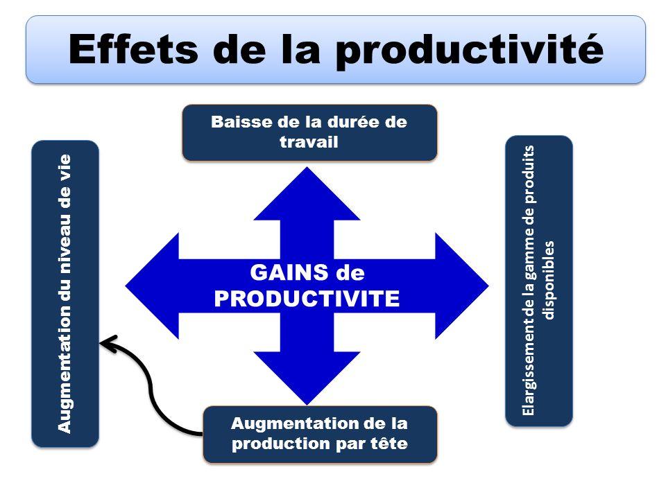 Effets de la productivité